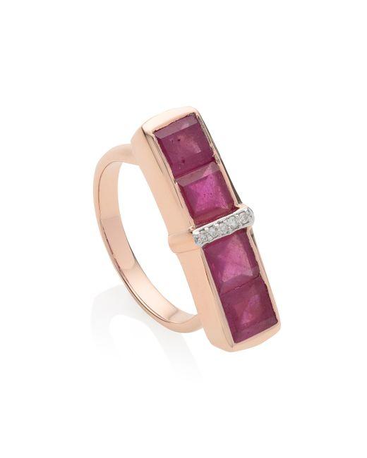 Monica Vinader | Pink Baja Precious Ring | Lyst