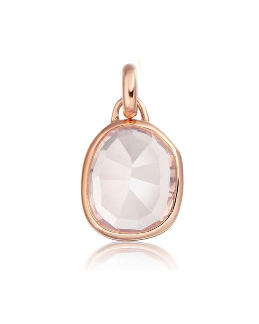 Monica Vinader - Metallic Riva Mini Circle Necklace - Lyst