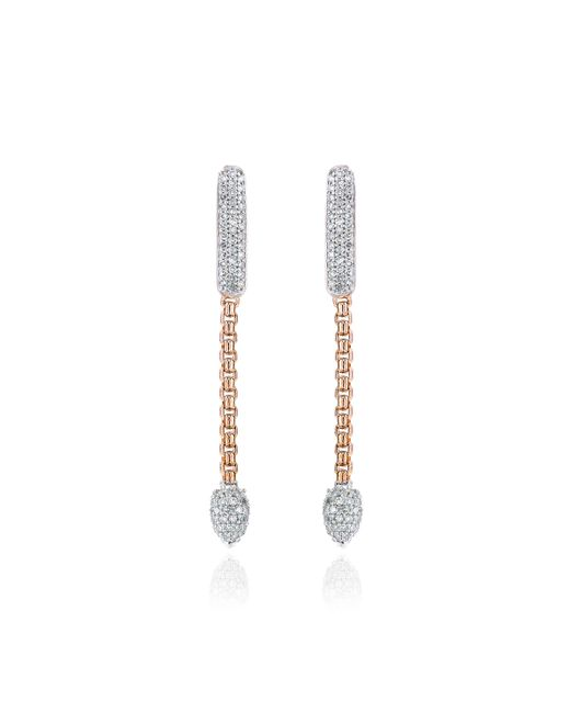 Monica Vinader | Pink Skinny Bud Short Full Diamond Earrings | Lyst