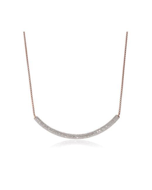 Monica Vinader   Pink Esencia Full Diamond Necklace   Lyst