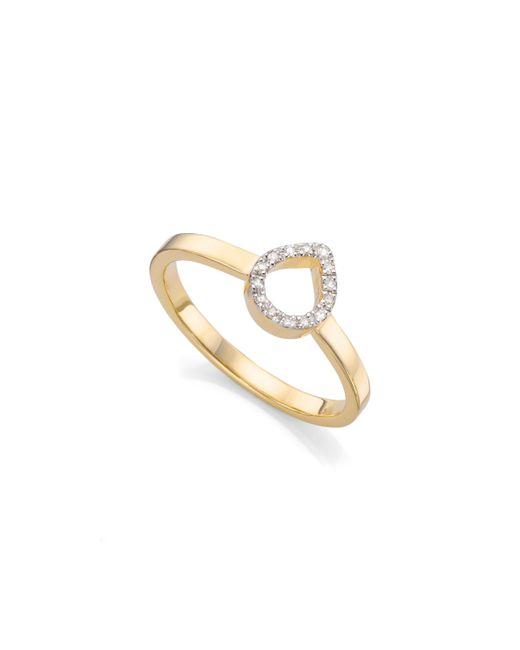 Monica Vinader | Metallic Naida Mini Lotus Open Ring | Lyst
