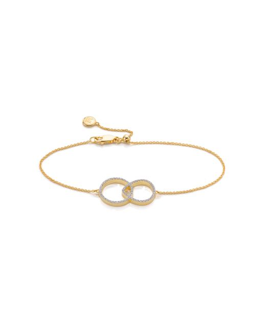 Monica Vinader | Metallic Naida Kiss Open Bracelet | Lyst