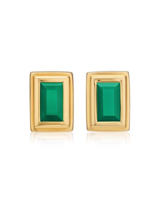 Monica Vinader | Green Baja Deco Stud Earrings | Lyst