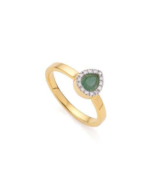Monica Vinader | Metallic Naida Mini Lotus Ring | Lyst