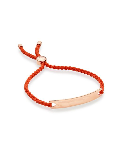 Monica Vinader | Metallic Esencia Sterling Silver Friendship Bracelet - For Women | Lyst