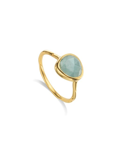 Monica Vinader | Blue Siren Stacking Ring | Lyst