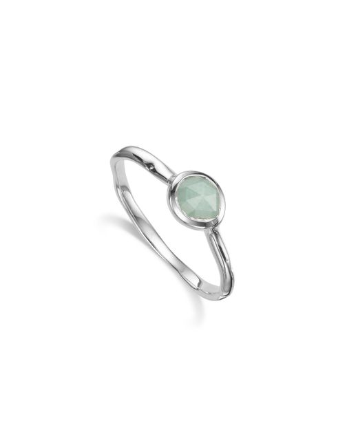 Monica Vinader   Blue Siren Small Stacking Ring   Lyst