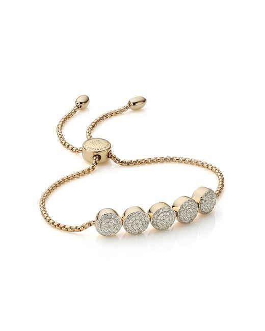 Monica Vinader - Metallic Fiji Button Friendship Chain Bracelet - Lyst