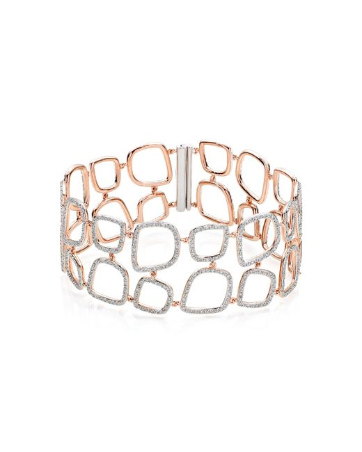 Monica Vinader - Pink Riva Diamond Cluster Cuff - Lyst