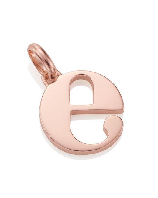 Monica Vinader | Pink Alphabet Pendant E | Lyst