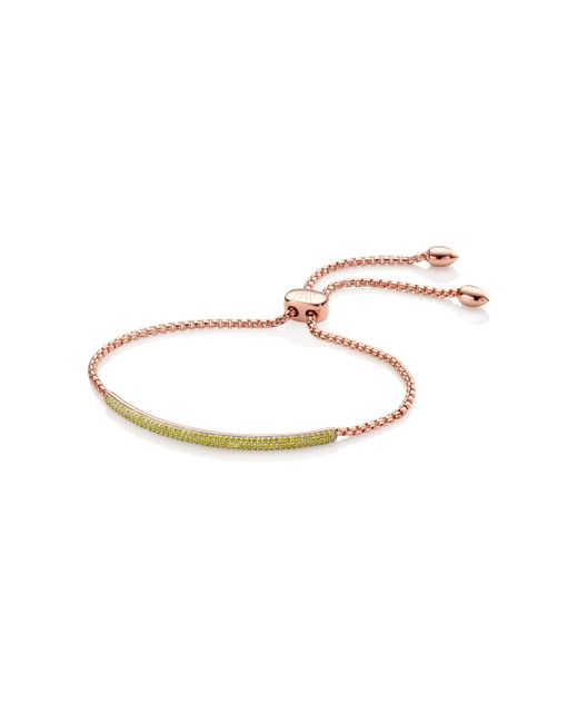 Monica Vinader | Yellow Stellar Diamond Mini Bar Bracelet | Lyst