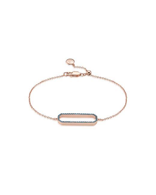 Monica Vinader - Metallic Naida Rectangle Open Bracelet - Lyst
