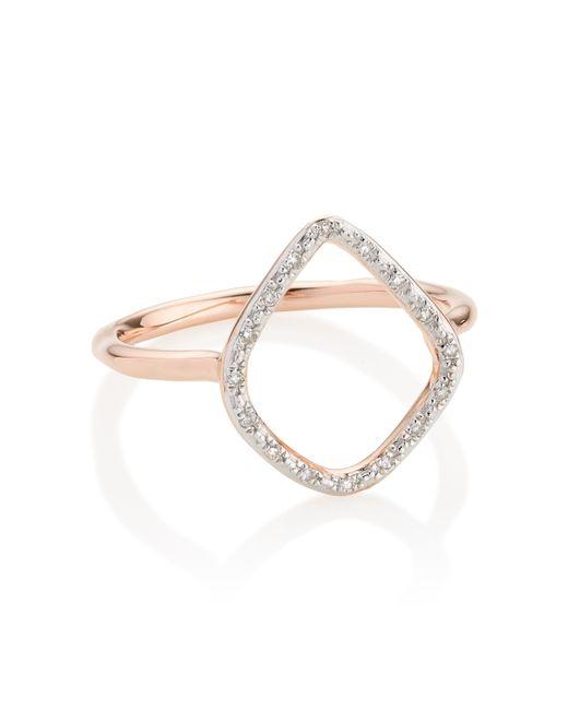 Monica Vinader - Pink Riva Diamond Hoop Ring - Lyst