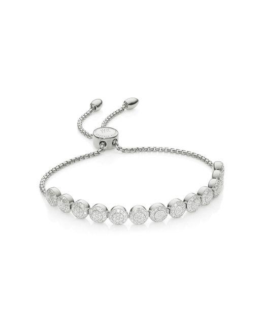 Monica Vinader - Metallic Fiji Beaded Chain Diamond Bracelet - Lyst