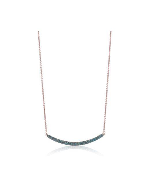 Monica Vinader - Blue Skinny Curve Necklace - Lyst