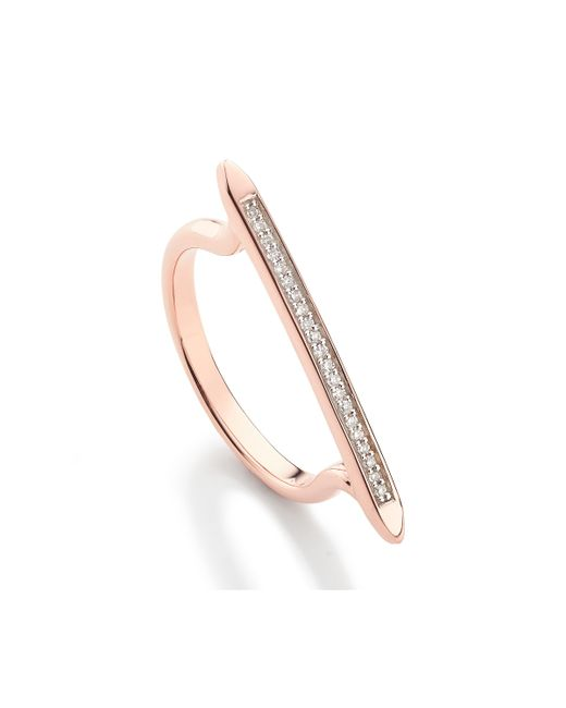 Monica Vinader - Pink Skinny Stacking Ring - Lyst