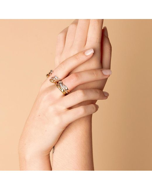 Monica Vinader Pink Siren Hammered Ring