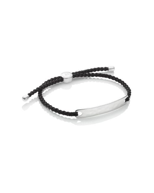 Monica Vinader | Black Linear Men's Stone Bracelet for Men | Lyst