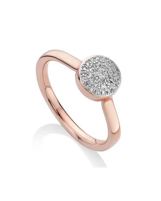 Monica Vinader - Pink Ava Button Ring - Lyst