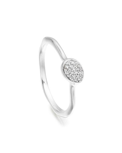 Monica Vinader - Metallic Siren Diamond Small Stacking Ring - Lyst