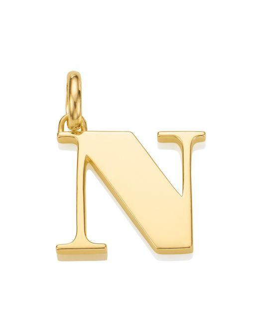 Monica Vinader - Metallic Alphabet Pendant N - Lyst