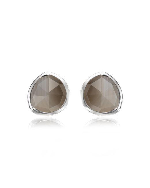 Monica Vinader - Gray Siren Large Nugget Earrings - Lyst