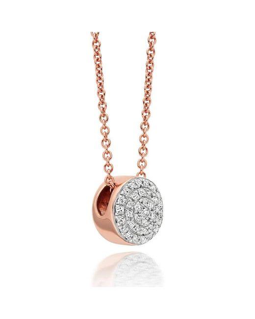 Monica Vinader Pink Ava Button Necklace