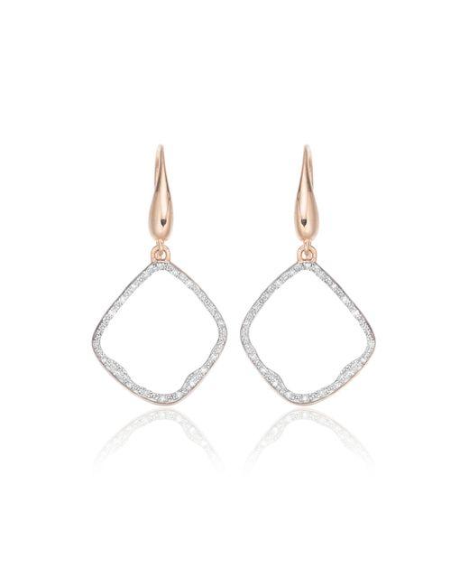 Monica Vinader Metallic Riva Diamond Hoop Earrings