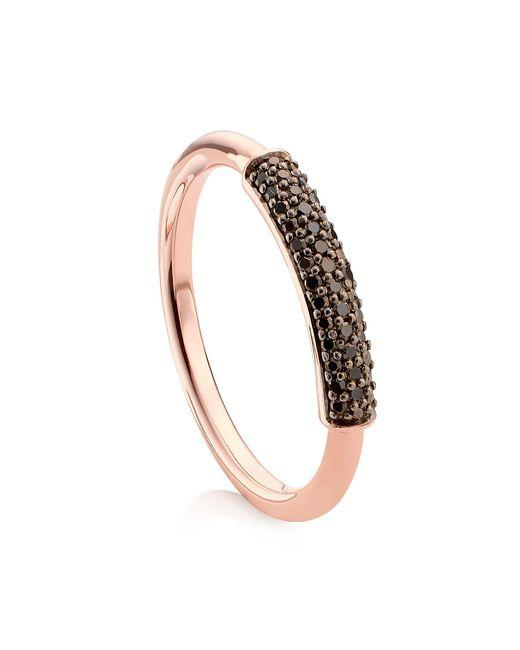 Monica Vinader Pink Stellar Diamond Stacking Ring