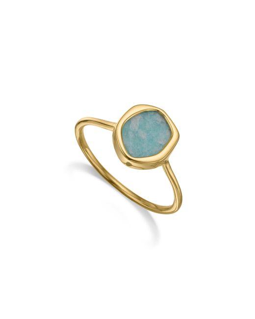 Monica Vinader - Blue Atlantis Gem Mini Stacking Ring - Lyst