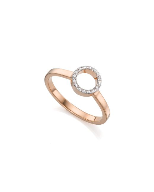 Monica Vinader - Pink Naida Mini Circle Open Ring - Lyst