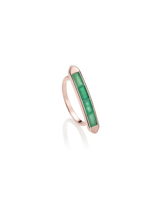 Monica Vinader | Green Baja Precious Skinny Ring | Lyst
