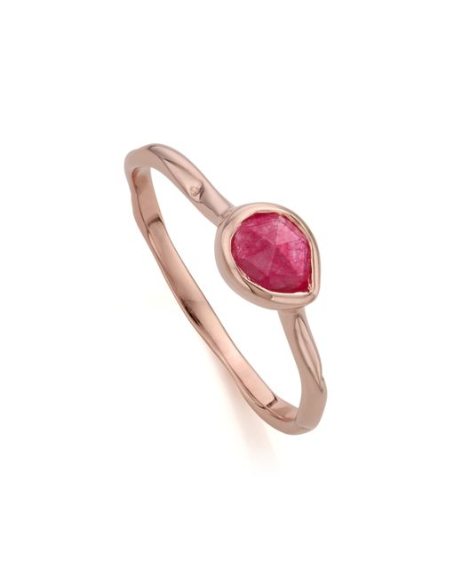 Monica Vinader - Pink Siren Small Stacking Ring - Lyst