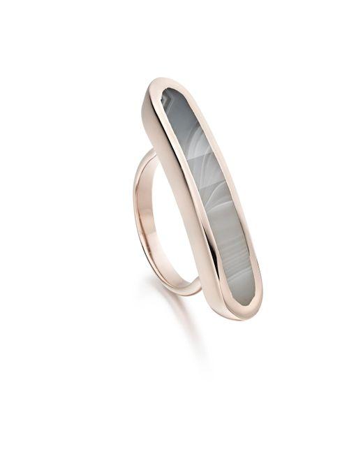Monica Vinader | Pink Baja Long Ring | Lyst