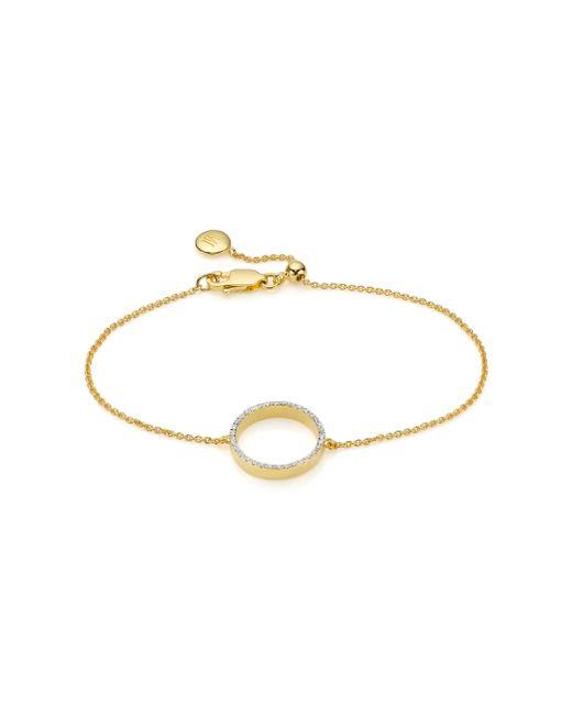 Monica Vinader - Metallic Naida Circle Open Bracelet - Lyst