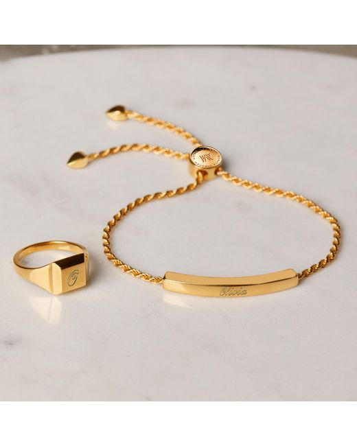Monica Vinader Metallic Linear Chain Bracelet