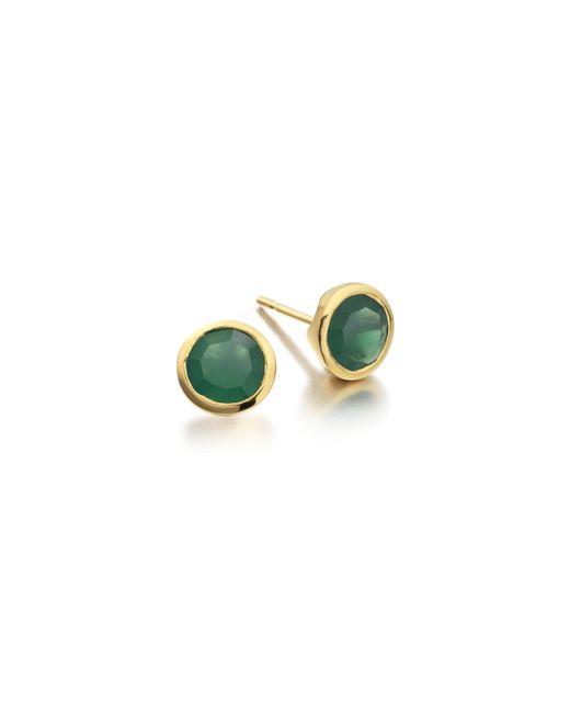 Monica Vinader   Green Isla Stud Earrings   Lyst