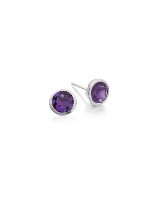 Monica Vinader | Metallic Isla Stud Earrings | Lyst