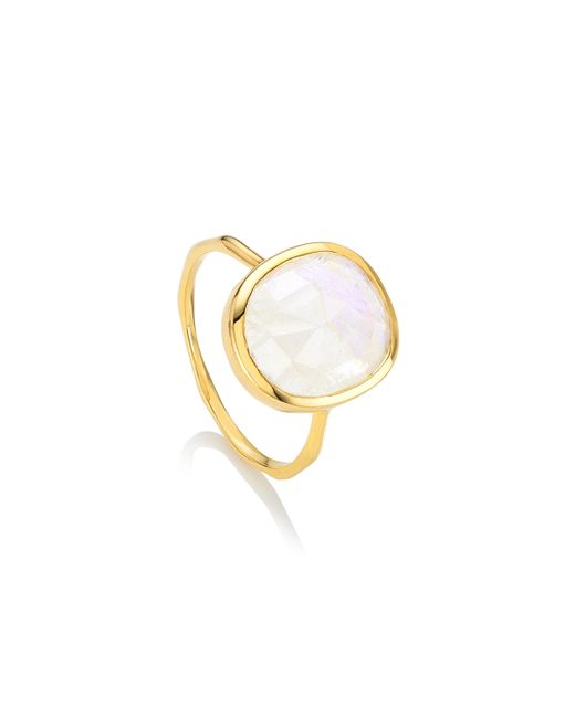 Monica Vinader - Metallic Siren Medium Stacking Ring - Lyst