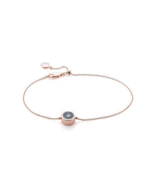 Monica Vinader   Pink Evil Eye Chain Bracelet   Lyst