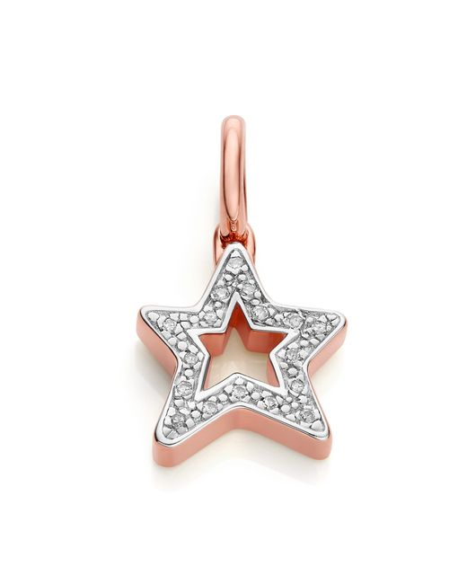 Monica Vinader Multicolor Alphabet Star Diamond Pendant Charm