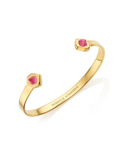 Monica Vinader Monica Vinader Woman Petra Hero 18-karat Gold-plated Moonstone Cuff Gold Size 43F7PSTgJn