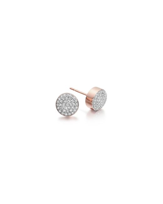 Monica Vinader - Pink Ava Button Stud Earrings - Lyst