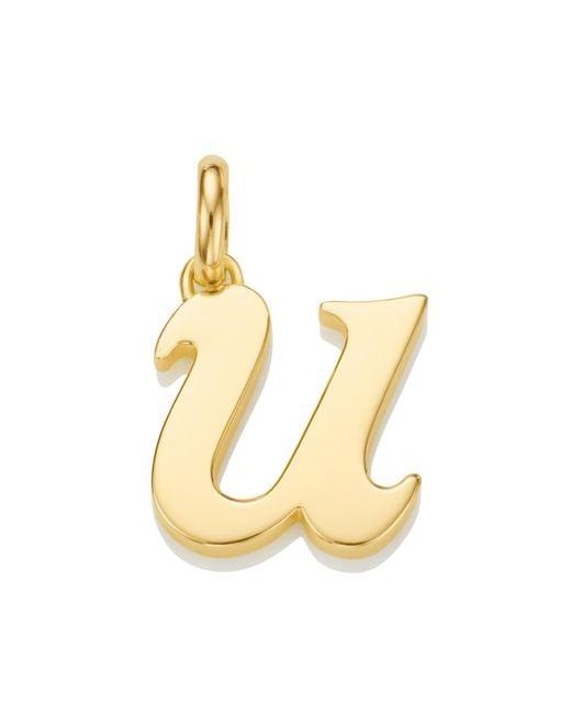 Monica Vinader - Metallic Alphabet U Pendant Charm - Lyst