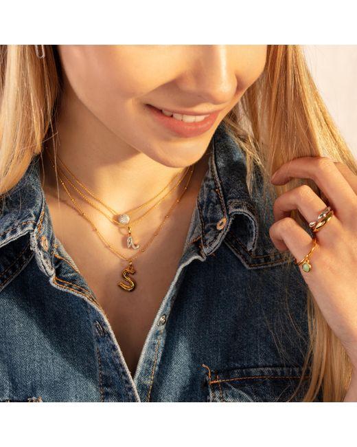Monica Vinader Multicolor Alphabet Moon Diamond Pendant Charm