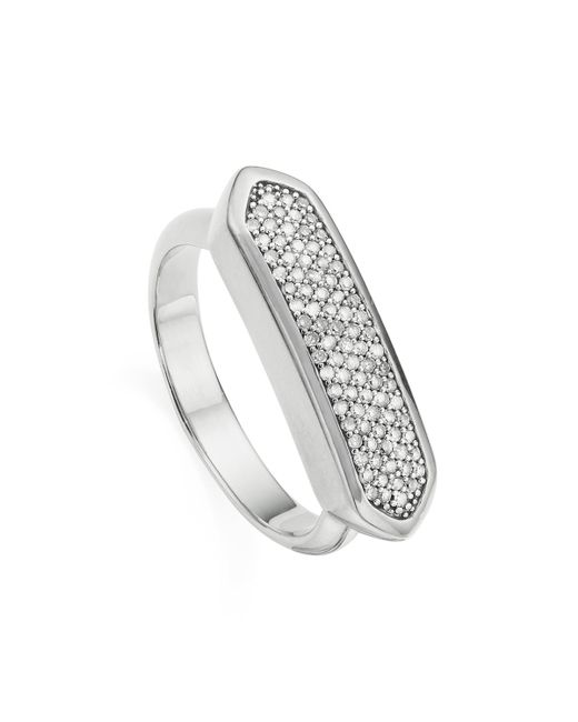 Monica Vinader Metallic Baja Diamond Ring