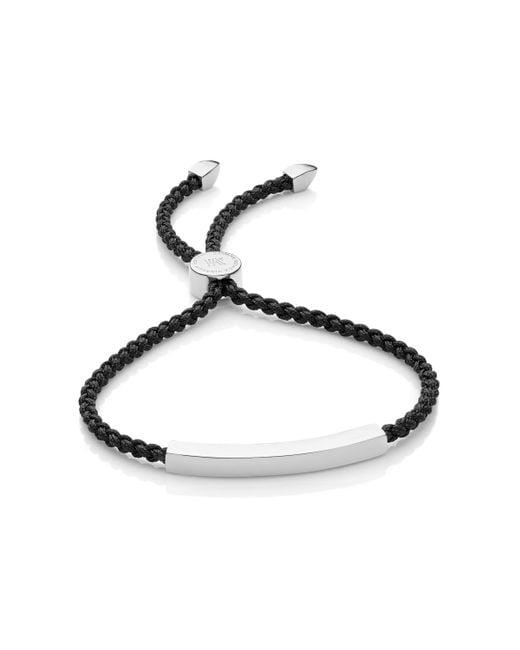 Monica Vinader Black Linear Friendship Bracelet