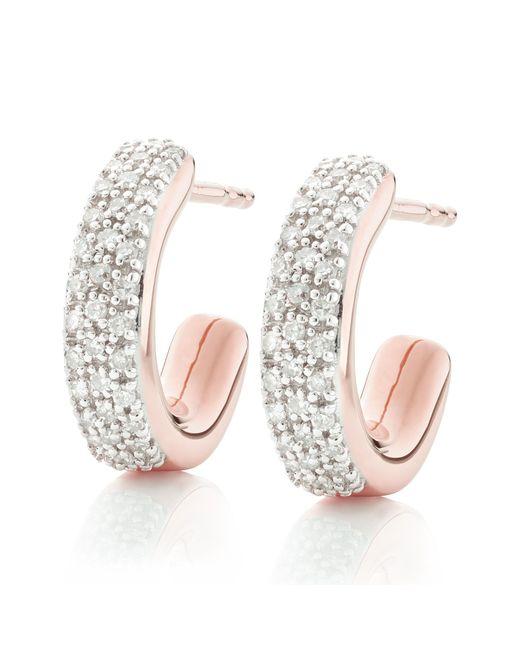 Monica Vinader Multicolor Fiji Mini Diamond Hoop Earrings