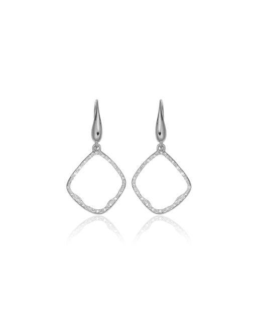 Monica Vinader | Metallic Riva Diamond Hoop Earrings | Lyst