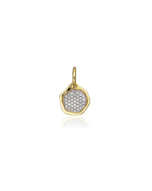 Monica Vinader - Metallic Riva Diamond Mini Pendant - Lyst